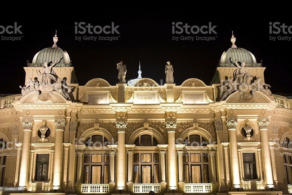Juliusz Slowacki Theater front royalty-free stock photo