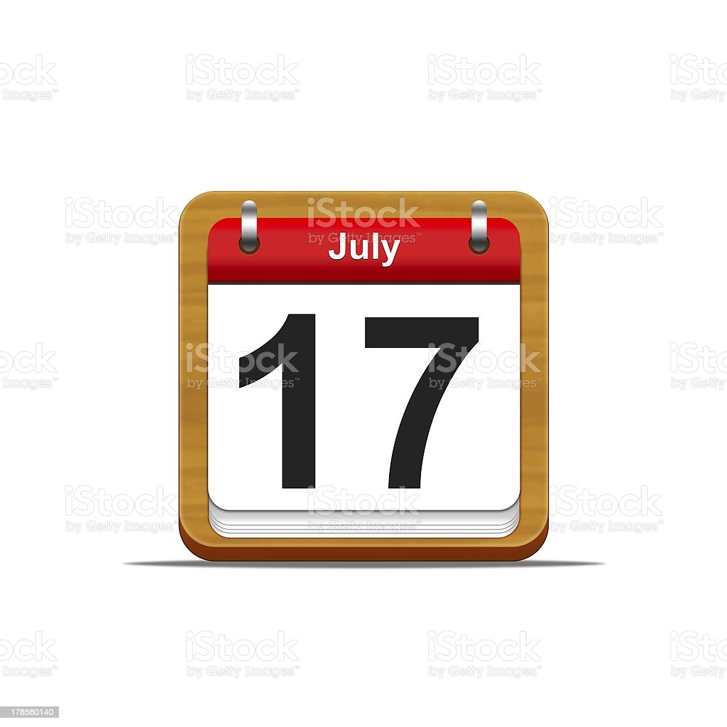 July 17. stock photo