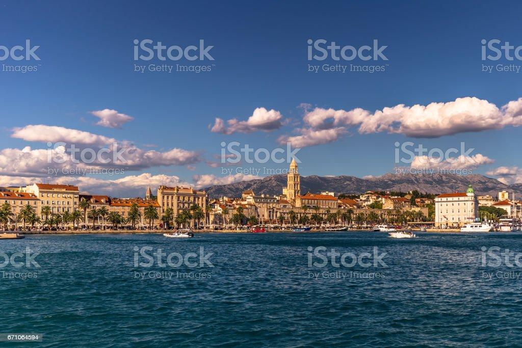 July 19, 2016:  Panorama of the city of Split, Croatia stock photo