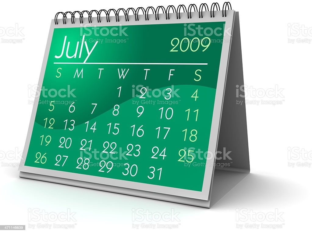 July 2009 royalty-free stock photo