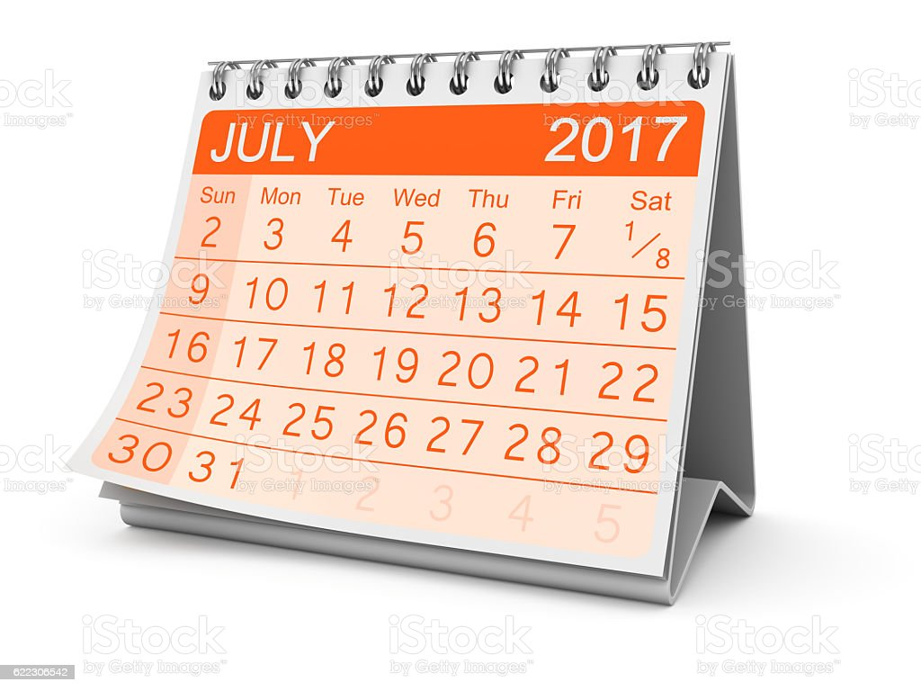 July 2017 stock photo