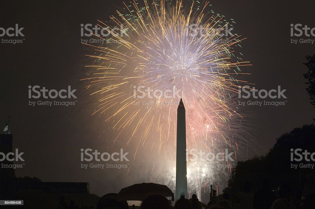 July 4 Firework royalty-free stock photo