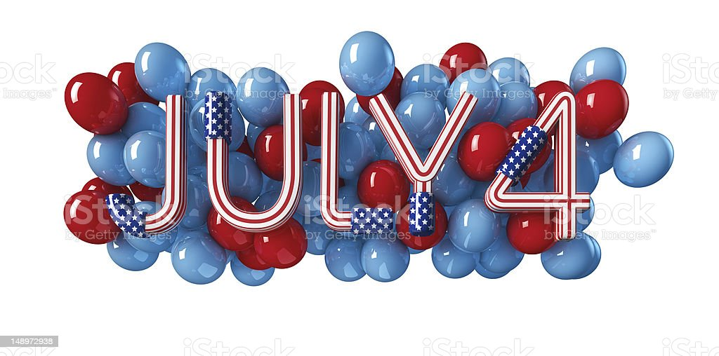 July 4 Independence Day royalty-free stock photo