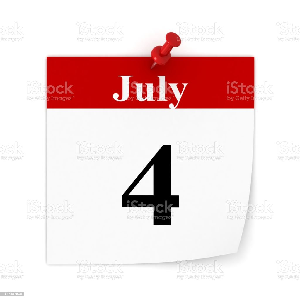 July 4 Reminder royalty-free stock photo