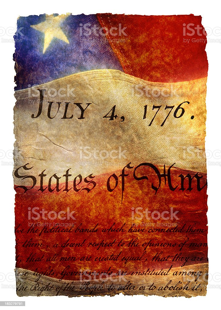 July 4th, 1776 and Flag royalty-free stock photo