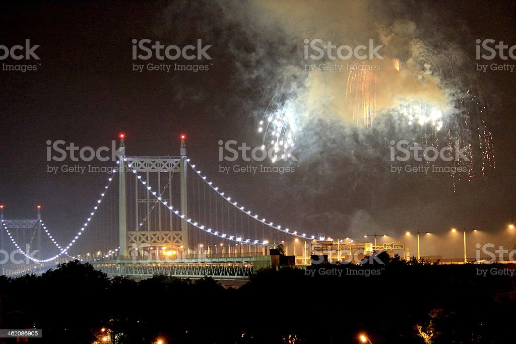 July 4th Fireworks stock photo