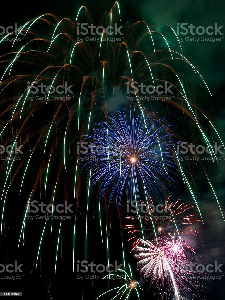 July 4th Fireworks royalty-free stock photo