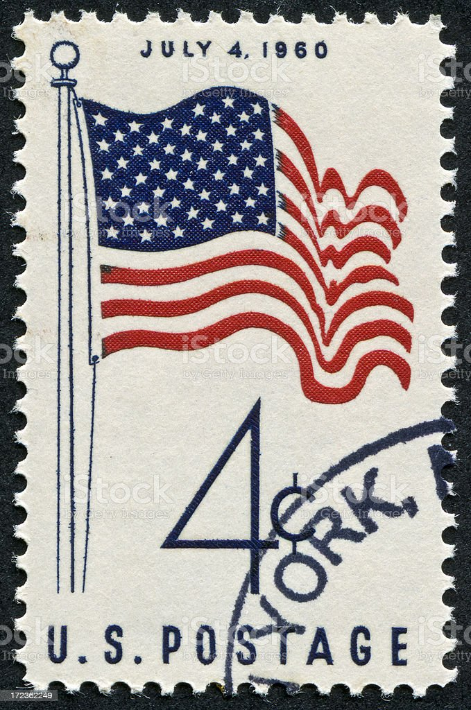July 4th Stamp royalty-free stock photo