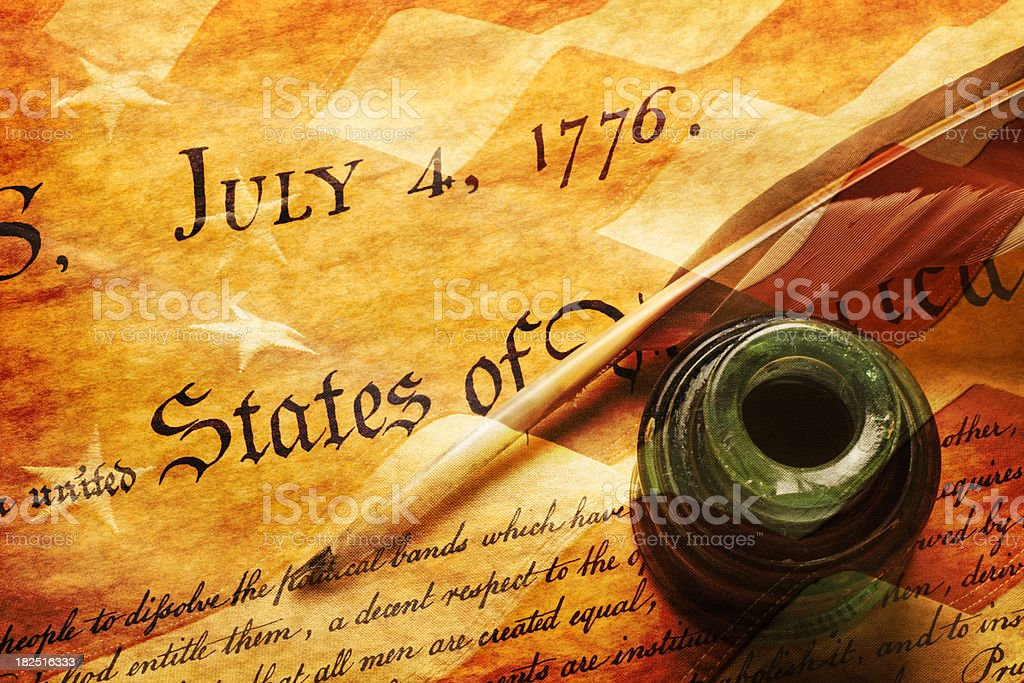 July 4th,1776 royalty-free stock photo
