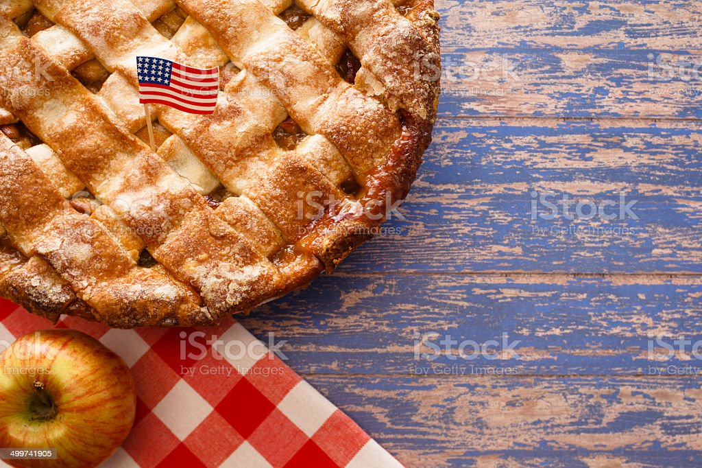 July Apple Pie stock photo