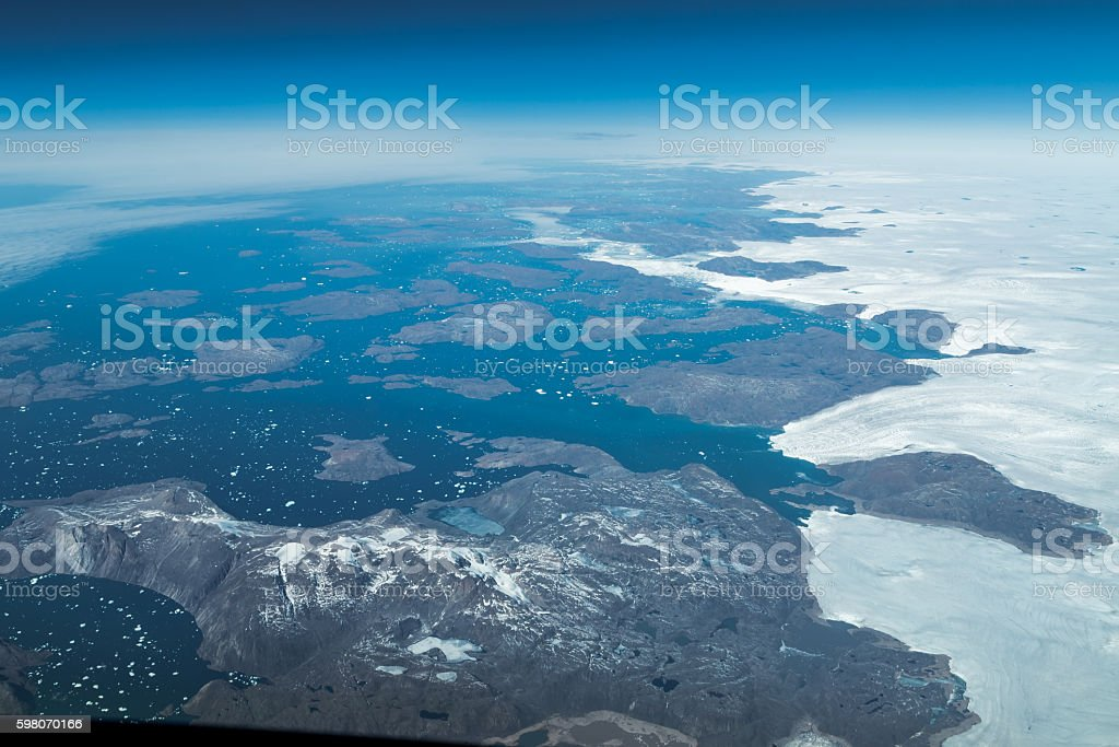 July at the eastcoast of Greenland stock photo
