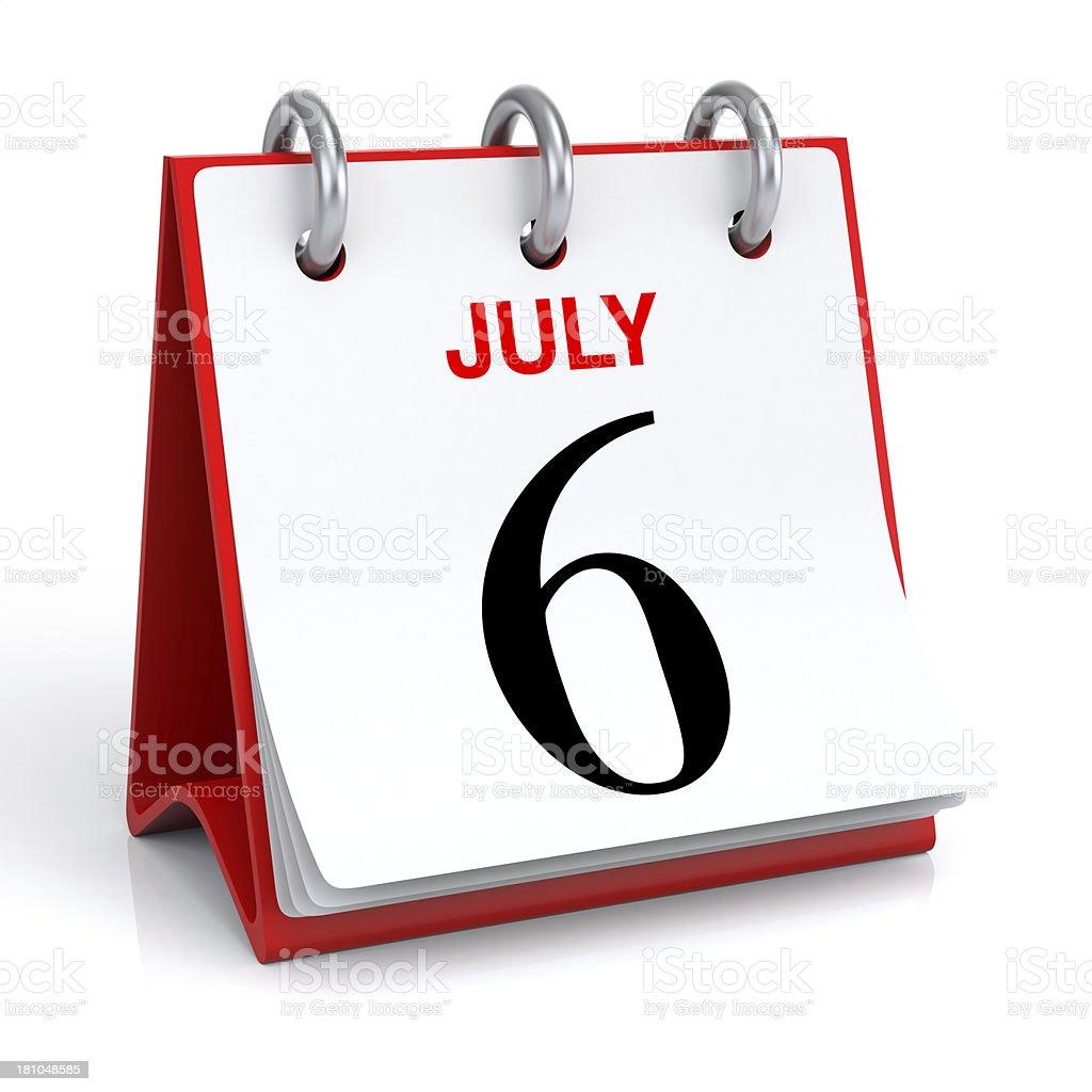 July Calendar royalty-free stock photo