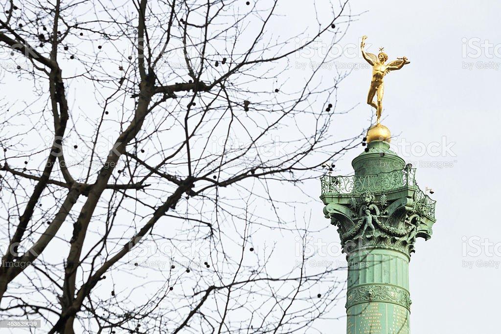July Column in Paris royalty-free stock photo