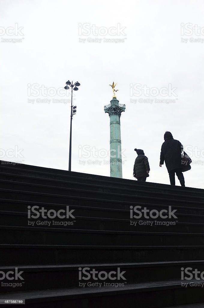 July column of Bastille stock photo