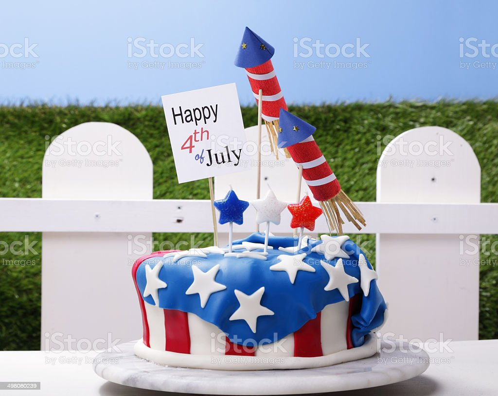 July Fourth Party stock photo