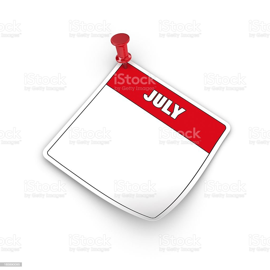 July. royalty-free stock photo