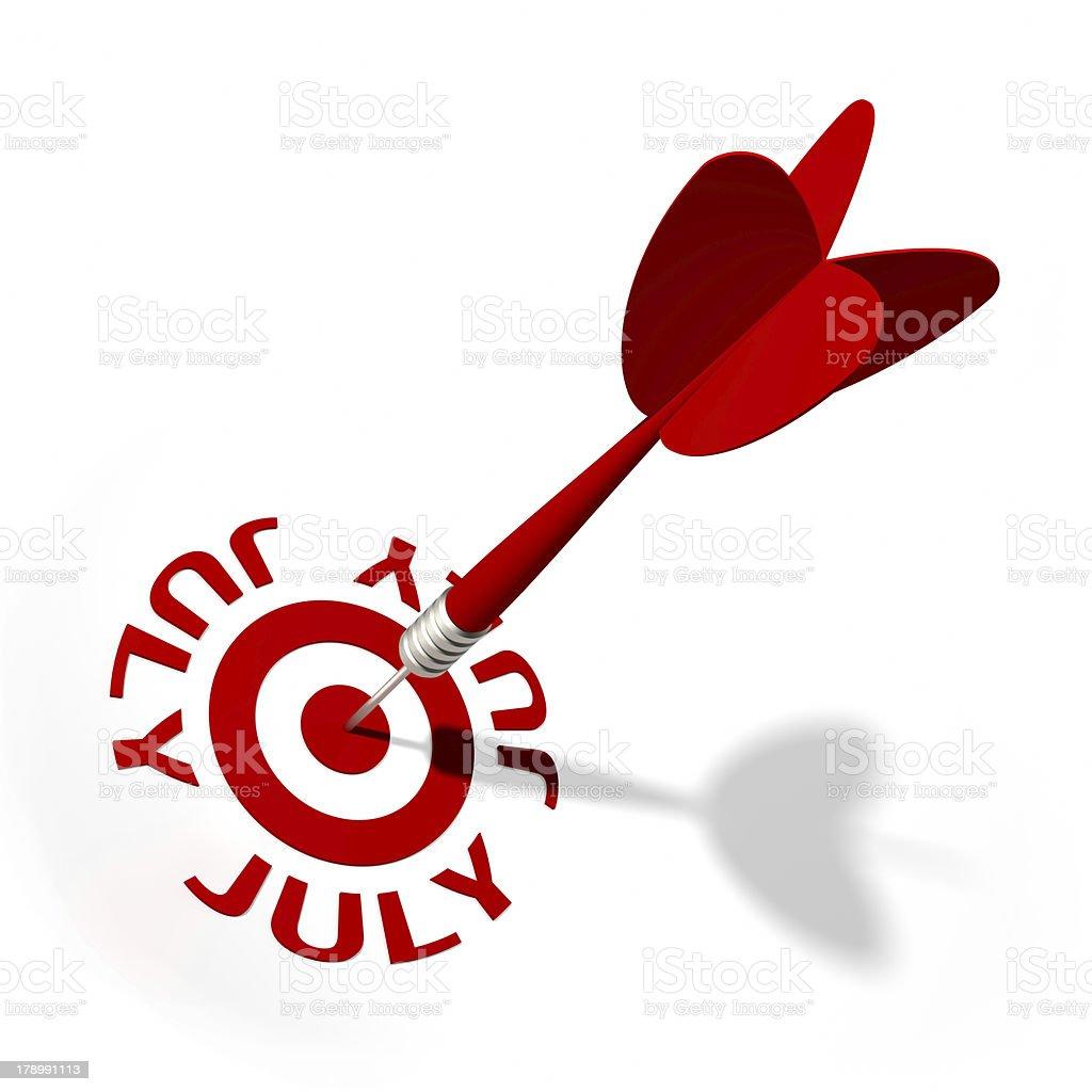 July Target royalty-free stock photo