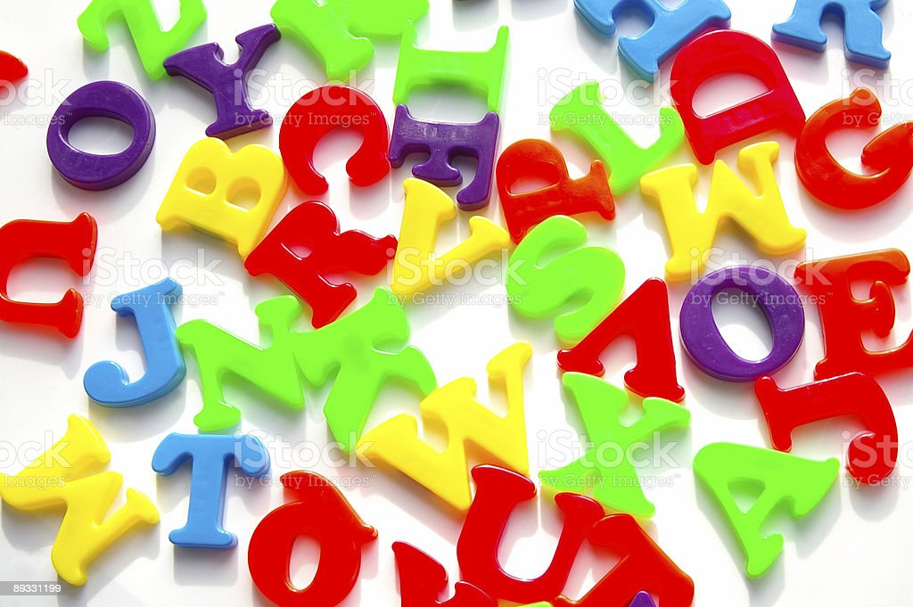 Jumbles letters royalty-free stock photo