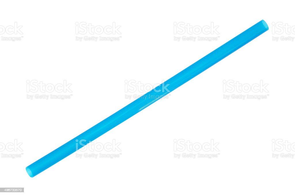 Jumbo blue smoothie milkshake straw stock photo