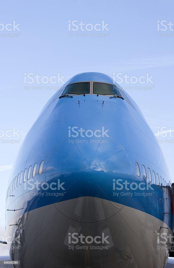 Jumbo jet docked at the gate. royalty-free stock photo