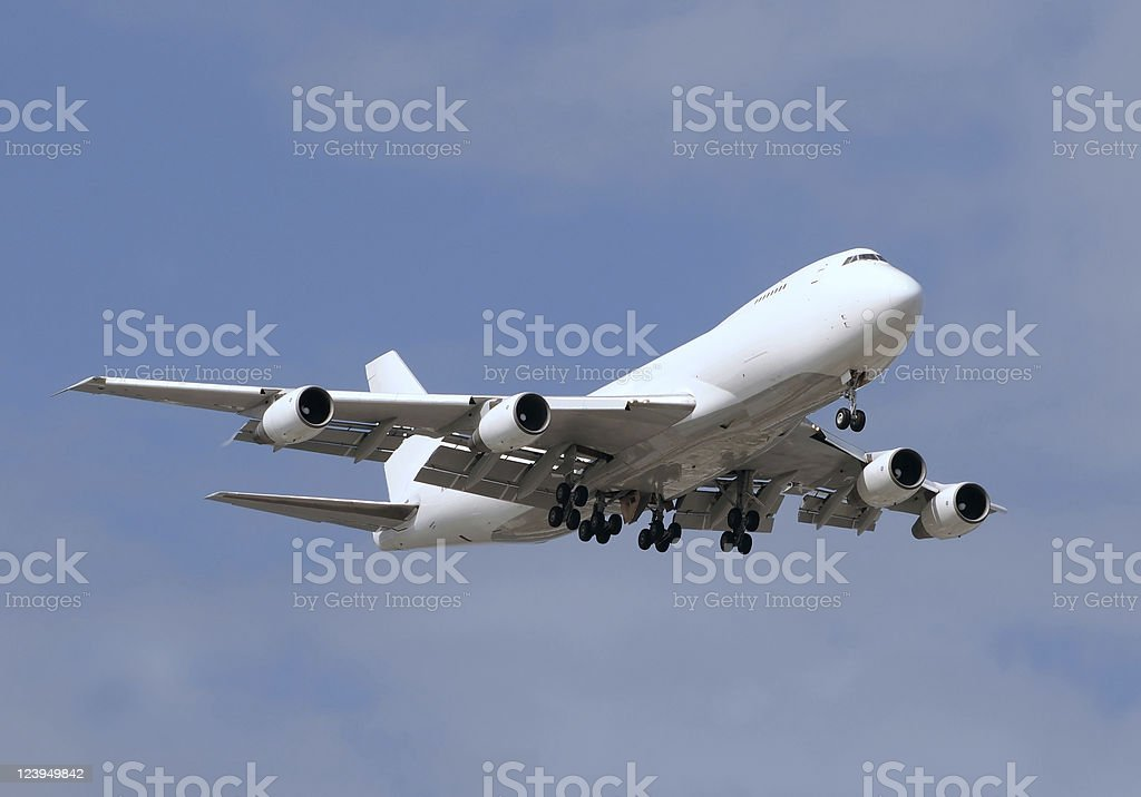 Jumbo jet stock photo