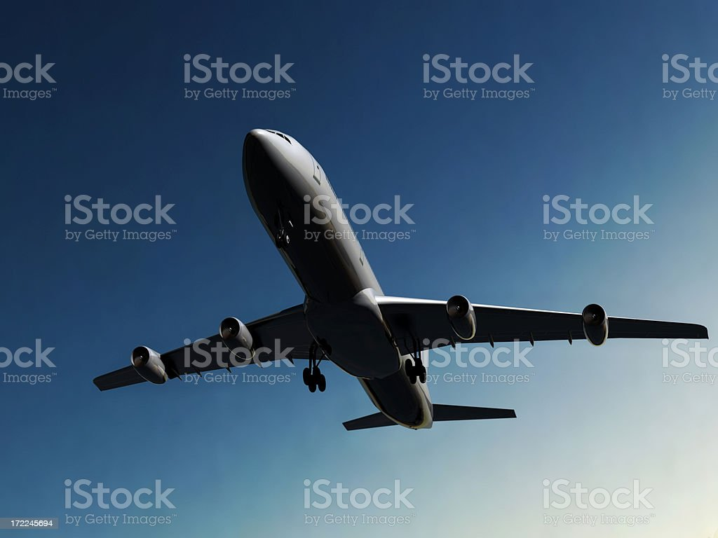 Jumbo Jet royalty-free stock photo