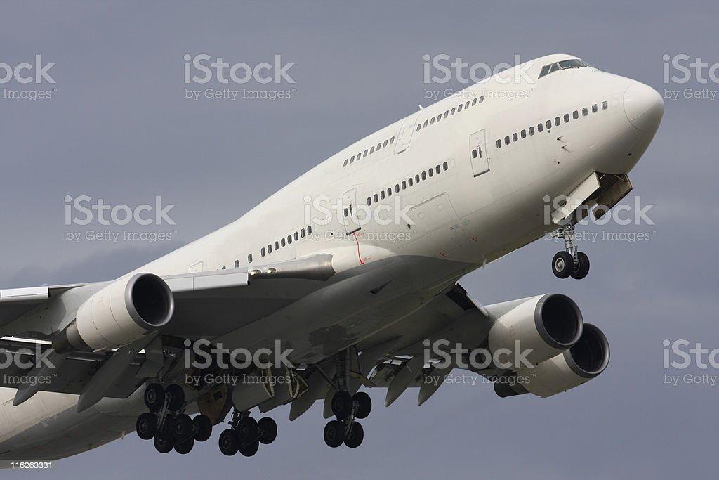 Jumbo Jet Takeoff royalty-free stock photo