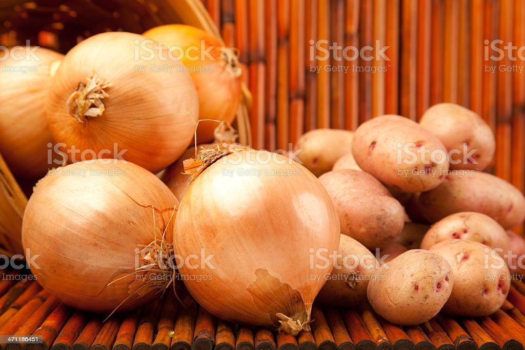 Jumbo Oninos & Red Potatoes stock photo