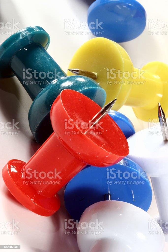 Jumbo Push Pins royalty-free stock photo