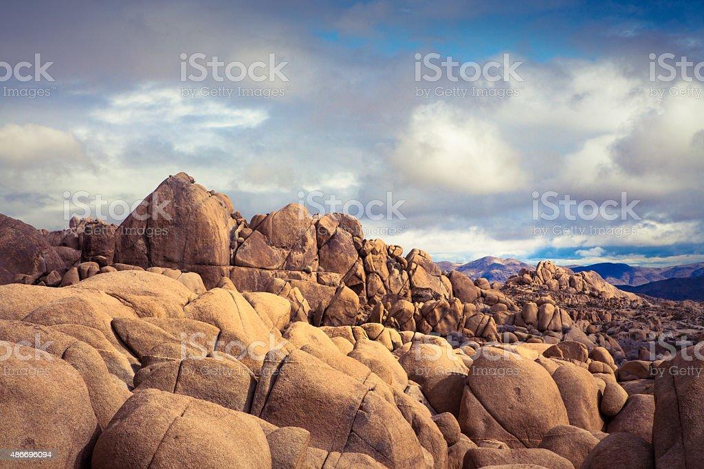 Jumbo Rocks, Morning After Desert Rains royalty-free stock photo