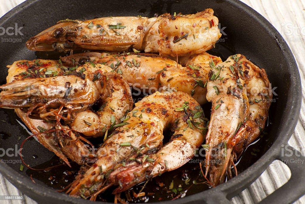 Jumbo Shrimp royalty-free stock photo