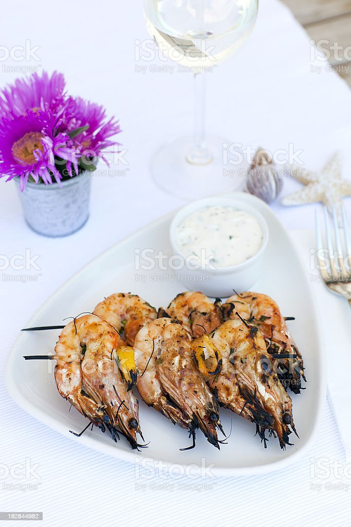 Jumbo shrimp royalty-free stock photo