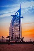 Jumeirah Beach and Burj Al Arab hotel