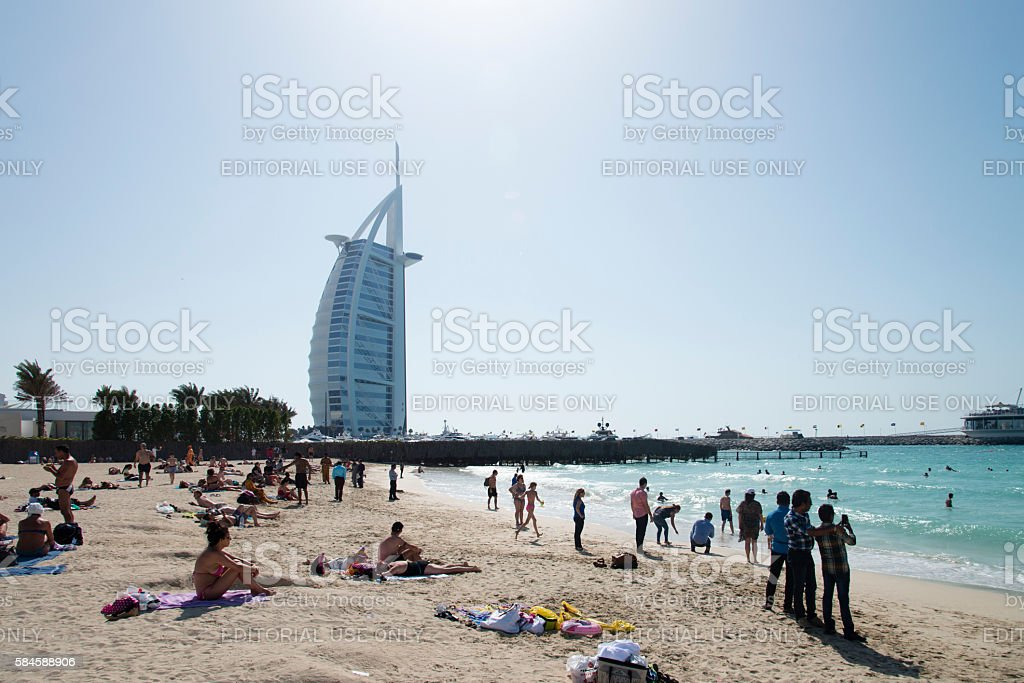 Jumeirah Beach Dubai stock photo