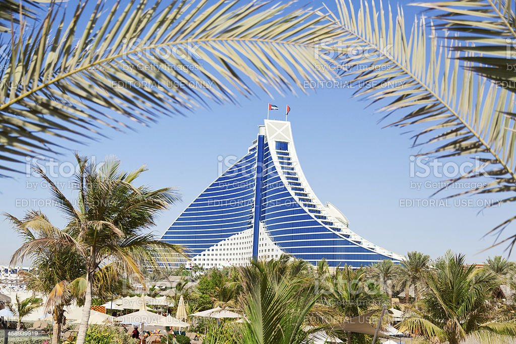Jumeirah Beach hotel, Dubai stock photo