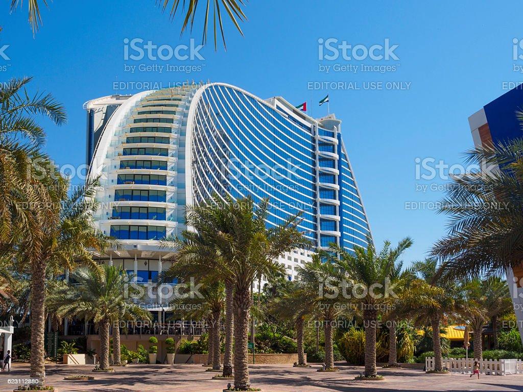 Jumeirah Beach Hotel, Dubai. stock photo