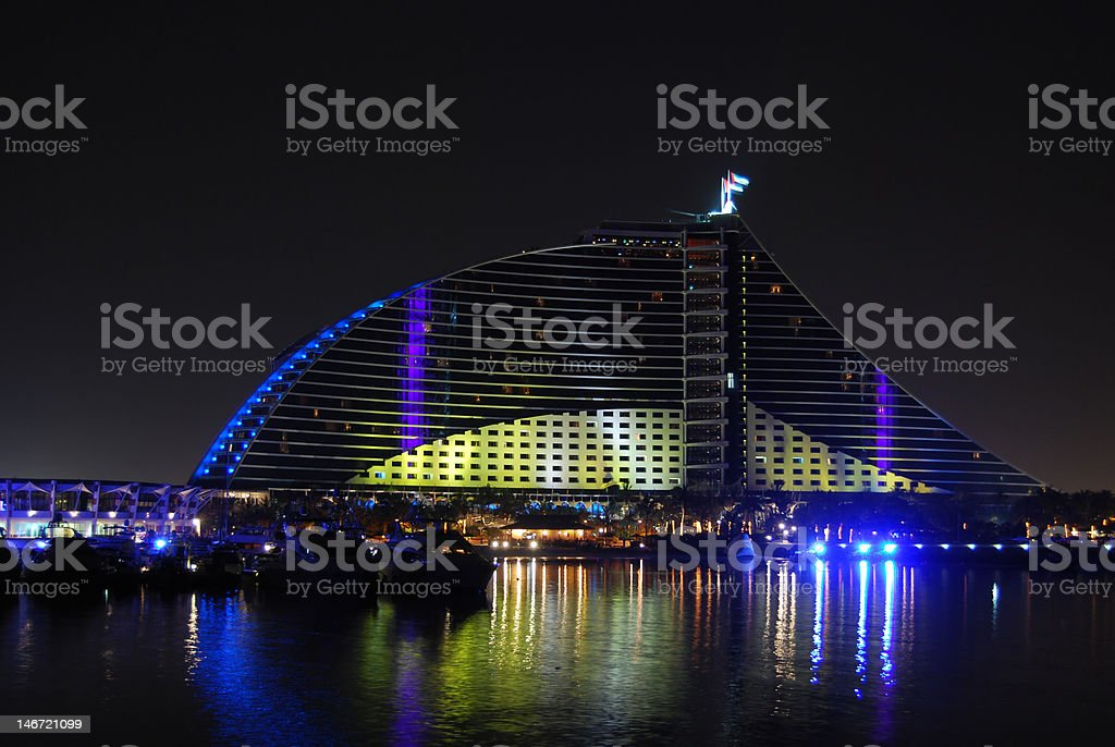 Jumeirah beach hotel royalty-free stock photo
