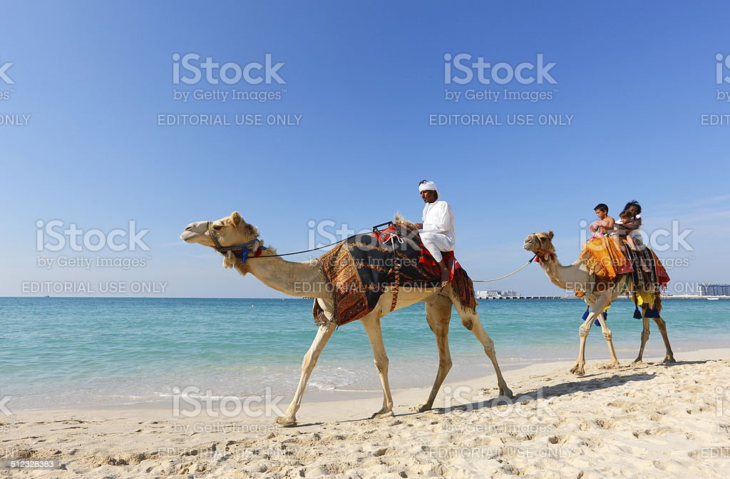 Jumeirah beach stock photo