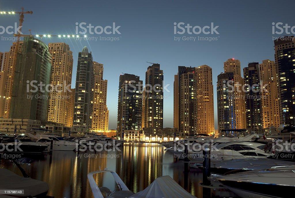 Jumeirah Beach Residence, Dubai Marina royalty-free stock photo