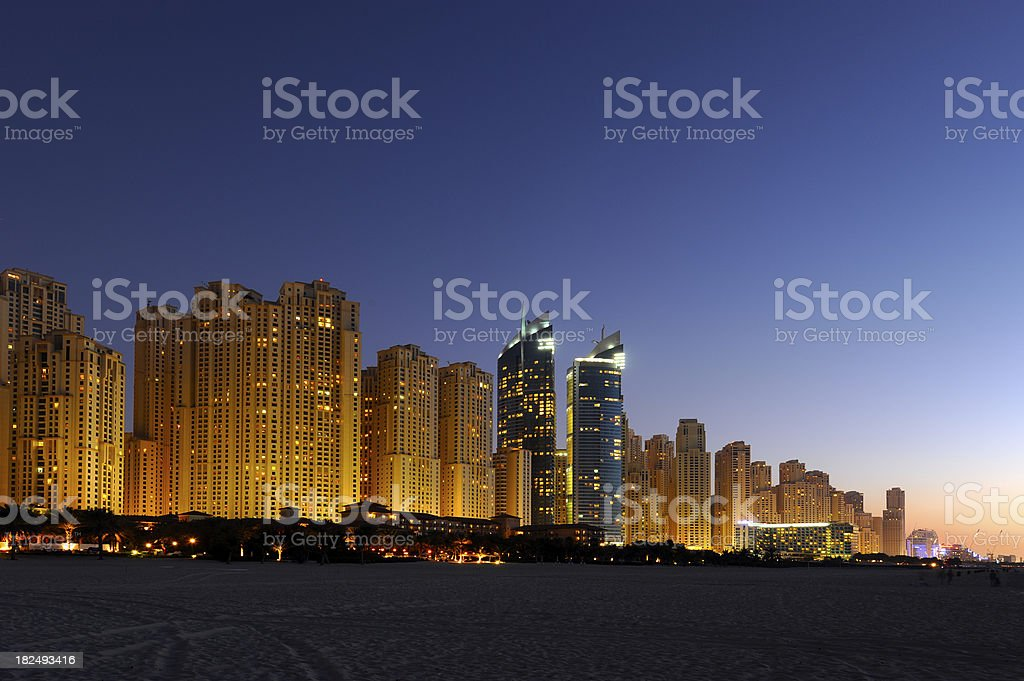 Jumeirah Beach Residence royalty-free stock photo