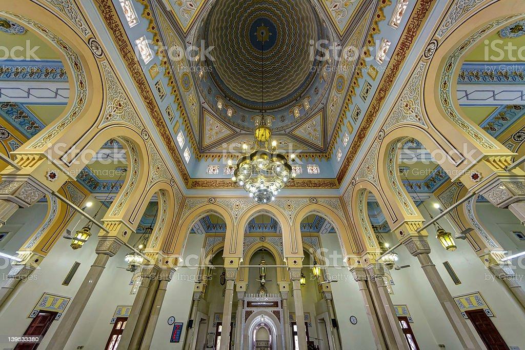 Jumeirah Grand Mosque Interior in Dubai, UAE stock photo