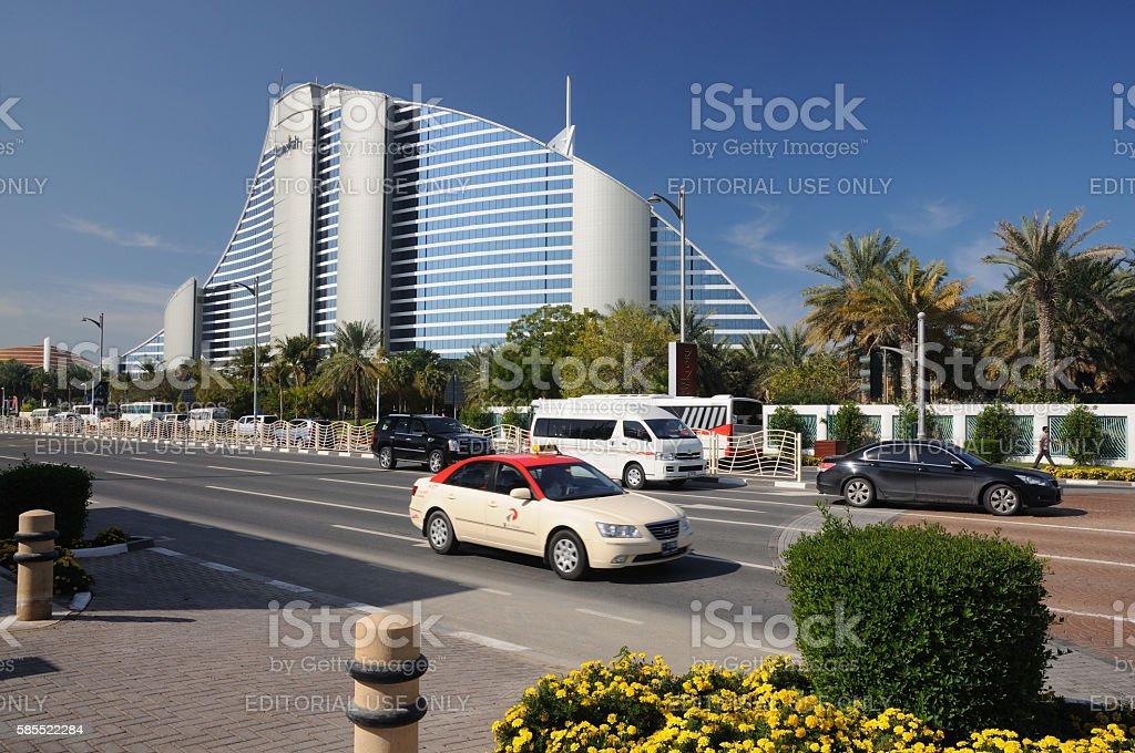 Jumeirah Hotel in Dubai stock photo