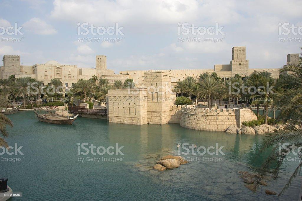 jumeirah, madinat stock photo