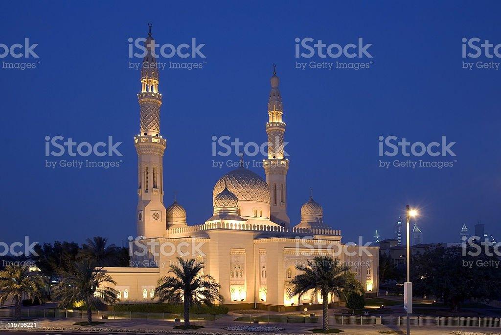 Jumeirah Mosque, Dubai royalty-free stock photo