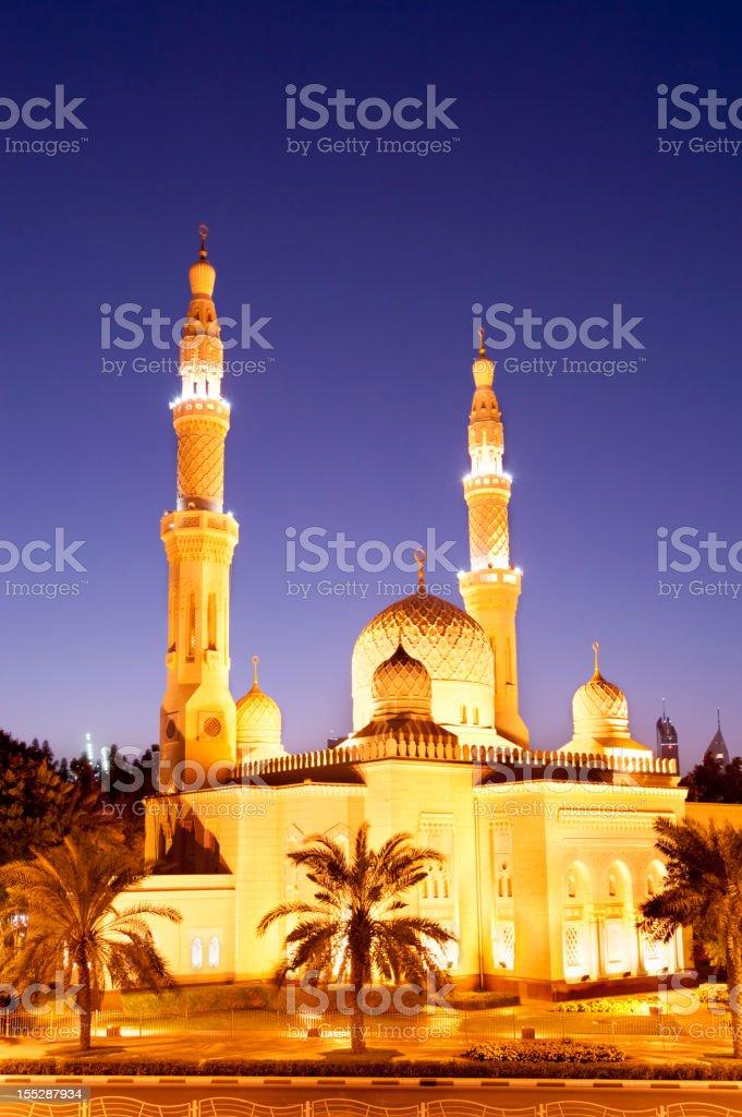 Jumeirah Mosque in Dubai in the United Arab Emirates stock photo