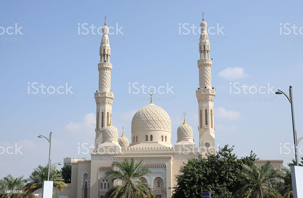 Jumeirah Mosque in Dubai royalty-free stock photo