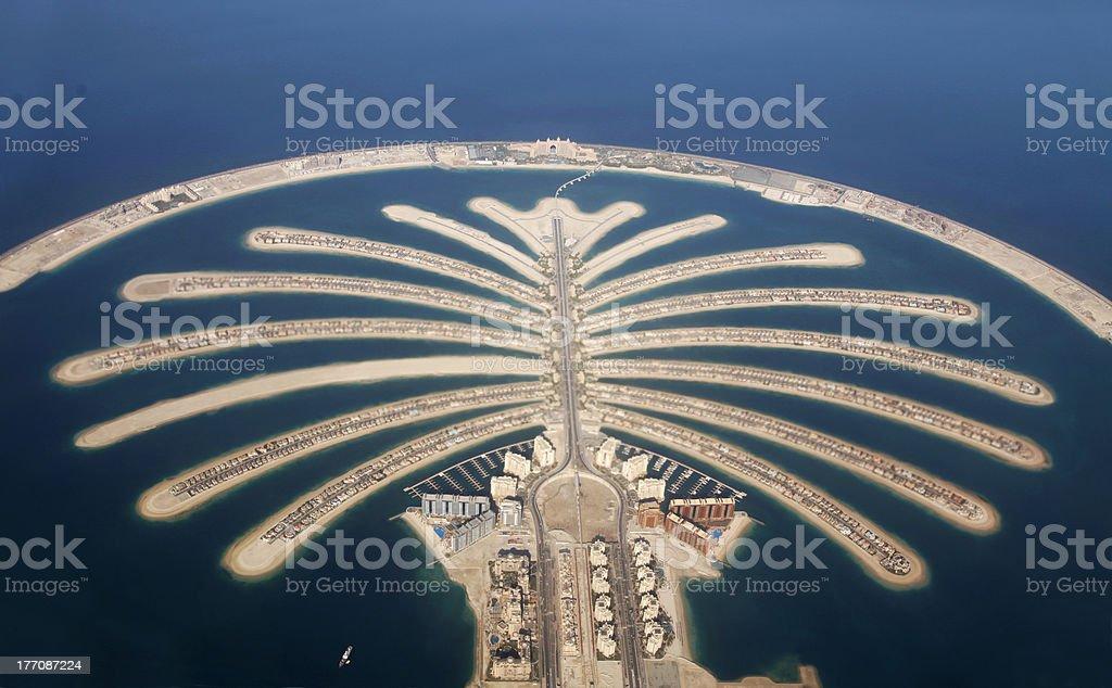Jumeirah Palm Island Development in Dubai royalty-free stock photo