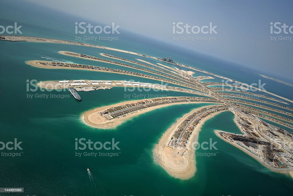 Jumeirah Palm Island In Dubai royalty-free stock photo