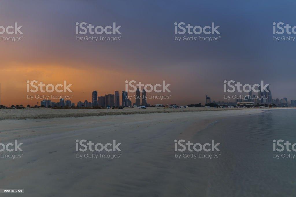 Jumeirha Beach at Duba stock photo