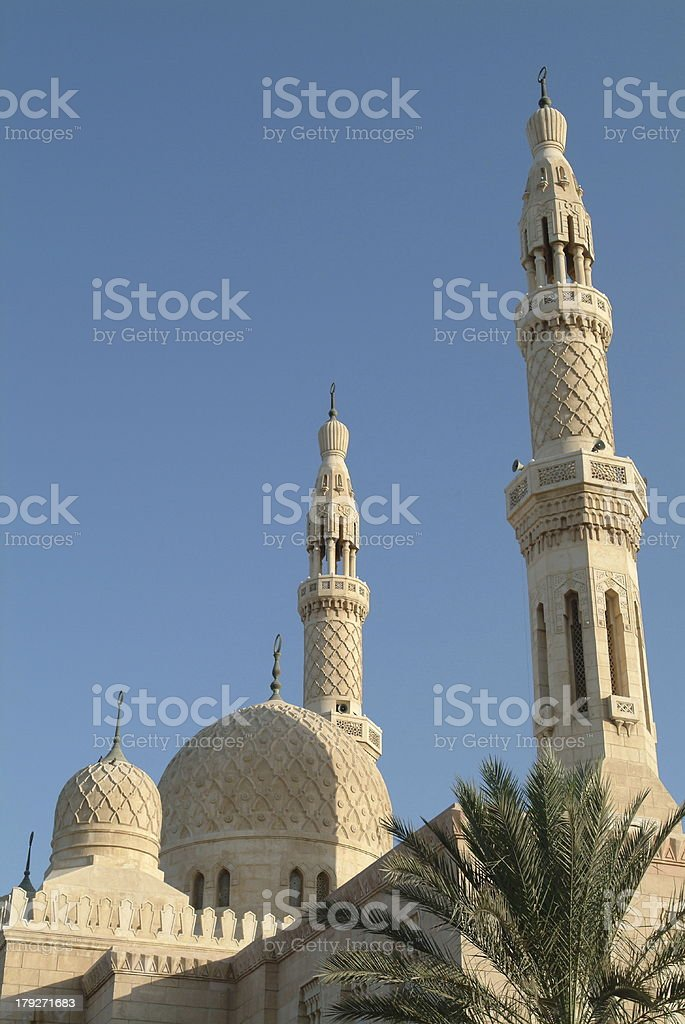 Jumeriah Mosque stock photo